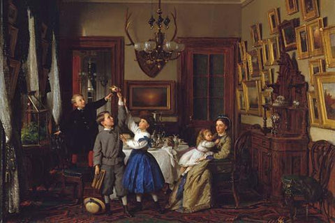 The Contest for the Bouquet: The Family of Robert Gordon in Their New York Dining-Room, 1866