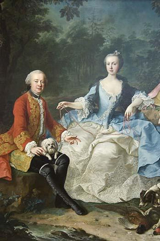Count Giacomo Durazzo in the Guise of a Huntsman with His Wife (Ernestine Aloisia Ungnad von Weissenwolff