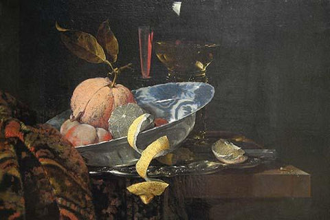 Still Life with Fruit, Glassware, and a Wan-li Bowl, 1659