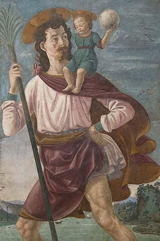 Saint Christopher & The Infant Christ Mural