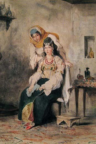 Saada, the Wife of Abraham Benchimol, and Préciada, One of Their Daughters, 1832