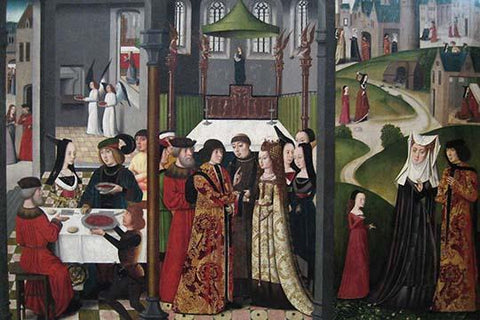 The Life and Miracles of Saint Godelieve, polyptych, last quarter of 15th century