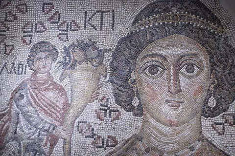 Fragment of a Floor Mosaic with a Personification of Ktisis