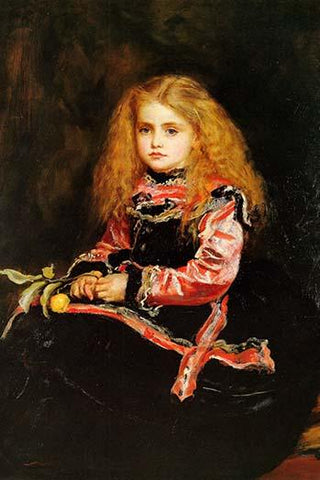 A Souvenir of Velasquez - A little girl with a Lemon Sprig