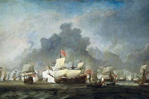 Battle of Solebay in the Anglo Dutch War - 1672