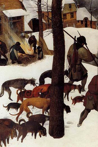 Hunters in the Snow - Detail -