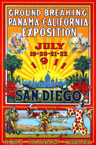 Ground breaking Panama-California exposition