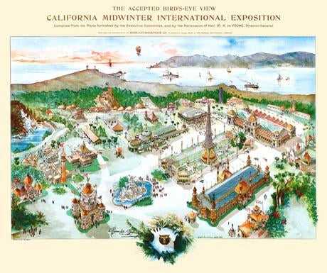 Bird's eye-view  California Midwinter International Exposition