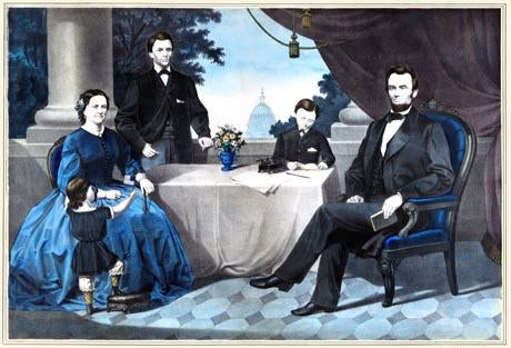 Portrait of Abraham Lincoln and family