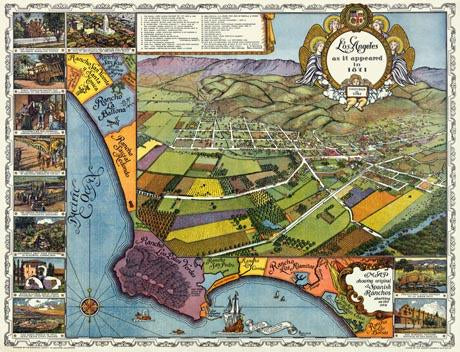 Los Angeles as it appeared in 1871, founded in 1761