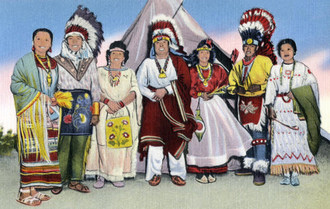 A typical Group of West Plains first Americans