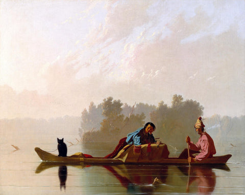 Fur Traders Descending the Missouri,1845