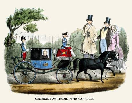 General Tom Thumb, in his carriage