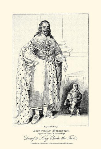 Jeffery Hudson, Dwarf to King Charles the First