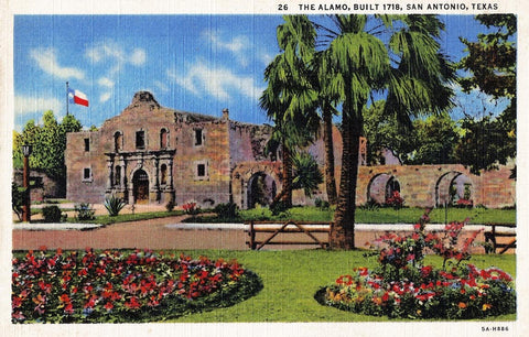 26 The Alamo, built in 1718, San Antonio, Texas
