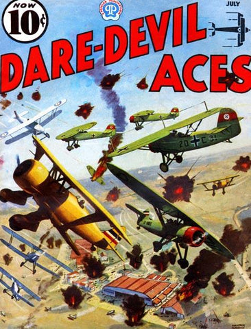 Brits Battle Germans Above an airfield