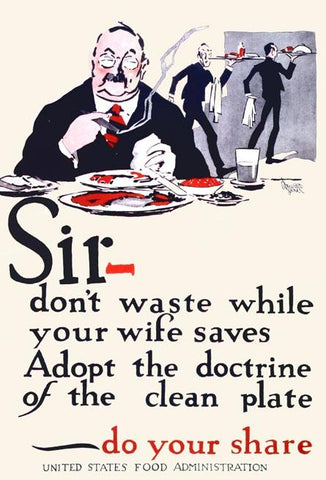 Sir- don't waste while your wife saves
