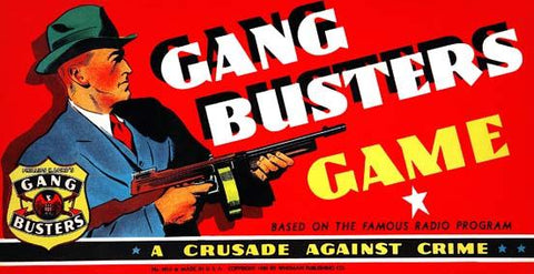 Gang Busters Board Game (Whitman, 1939).