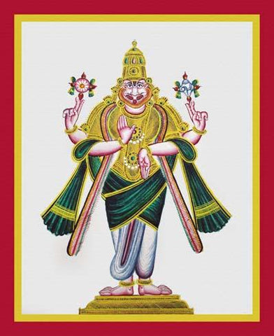 Four-armed Narahsi?ha, avatar of Vishnu