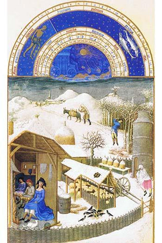 Le Tres riches heures du Duc de Berry - February