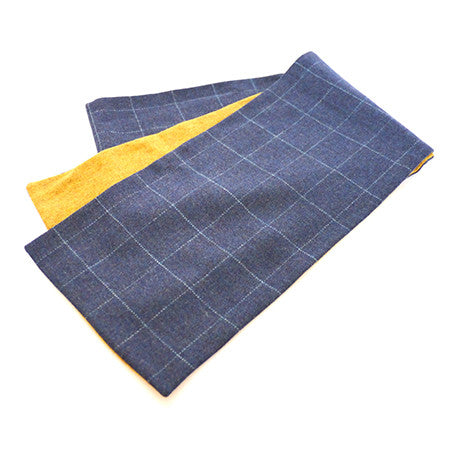 Oversized Scarf - Blue Check
