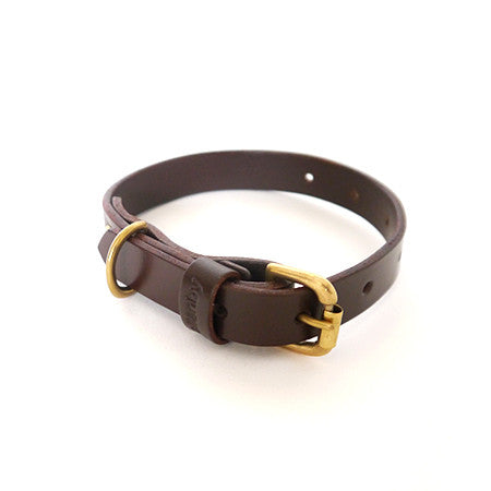 Dog Collar - Chestnut Leather