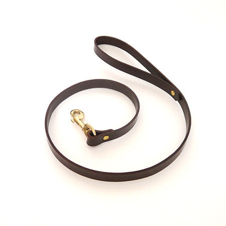 Dog Lead - Chestnut Leather