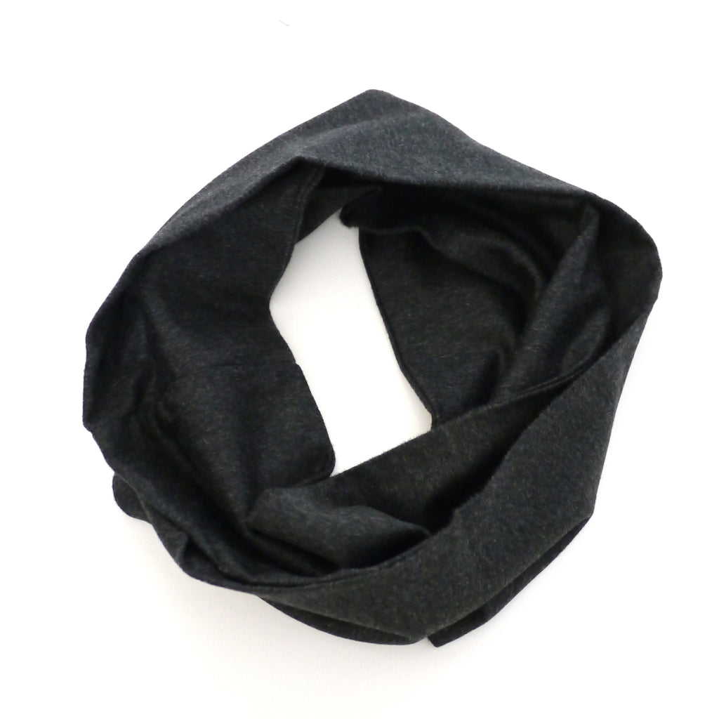Loop Scarf - Charcoal Cashmere