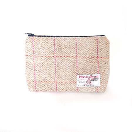 Make-Up Bag - Pink Check