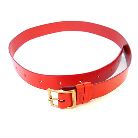 Leather Belt - Red