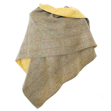 Harris Tweed Wrap - Olive