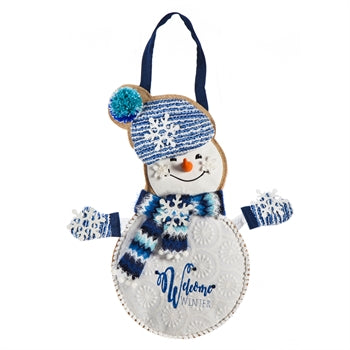 Winter Snowman Door Decor