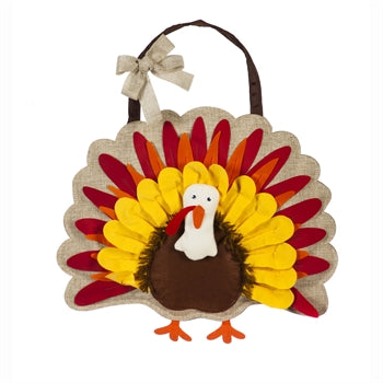 Give Thanks Turkey Door Decor
