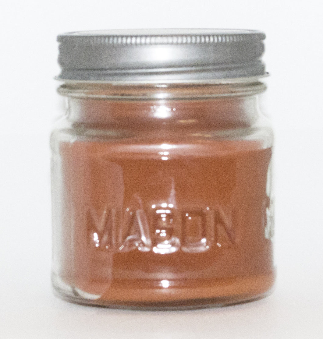 Carmelized Pralines Square Mason Jar