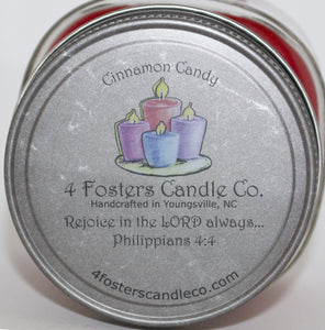 Cinnamon Candy Square Mason Jar