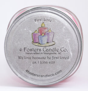 First Love Square Mason Jar