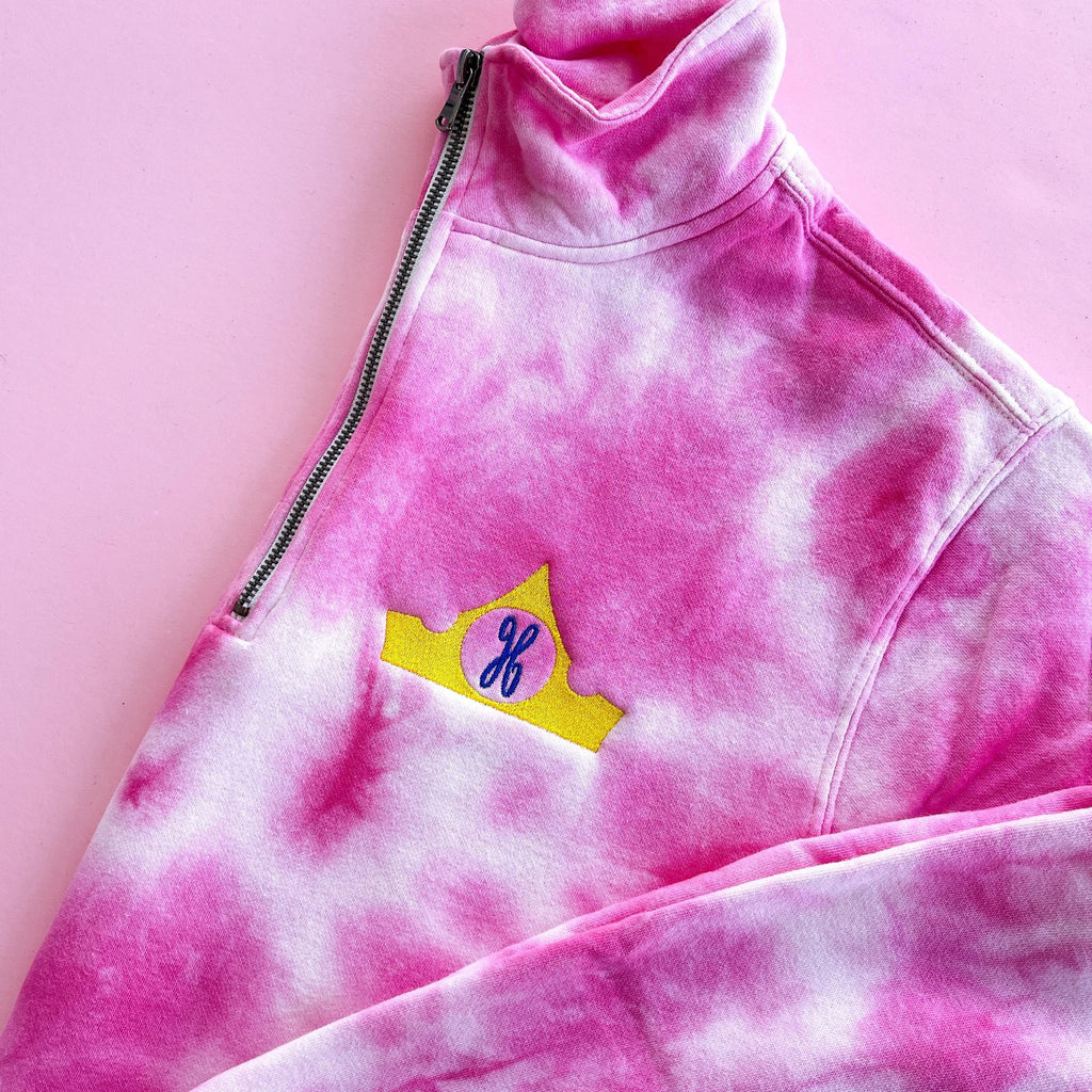 Pink + Blue Tie Dye Pullover