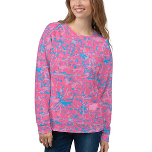 Pink/Blue Unisex Crew Sweatshirt (10 business day production time)