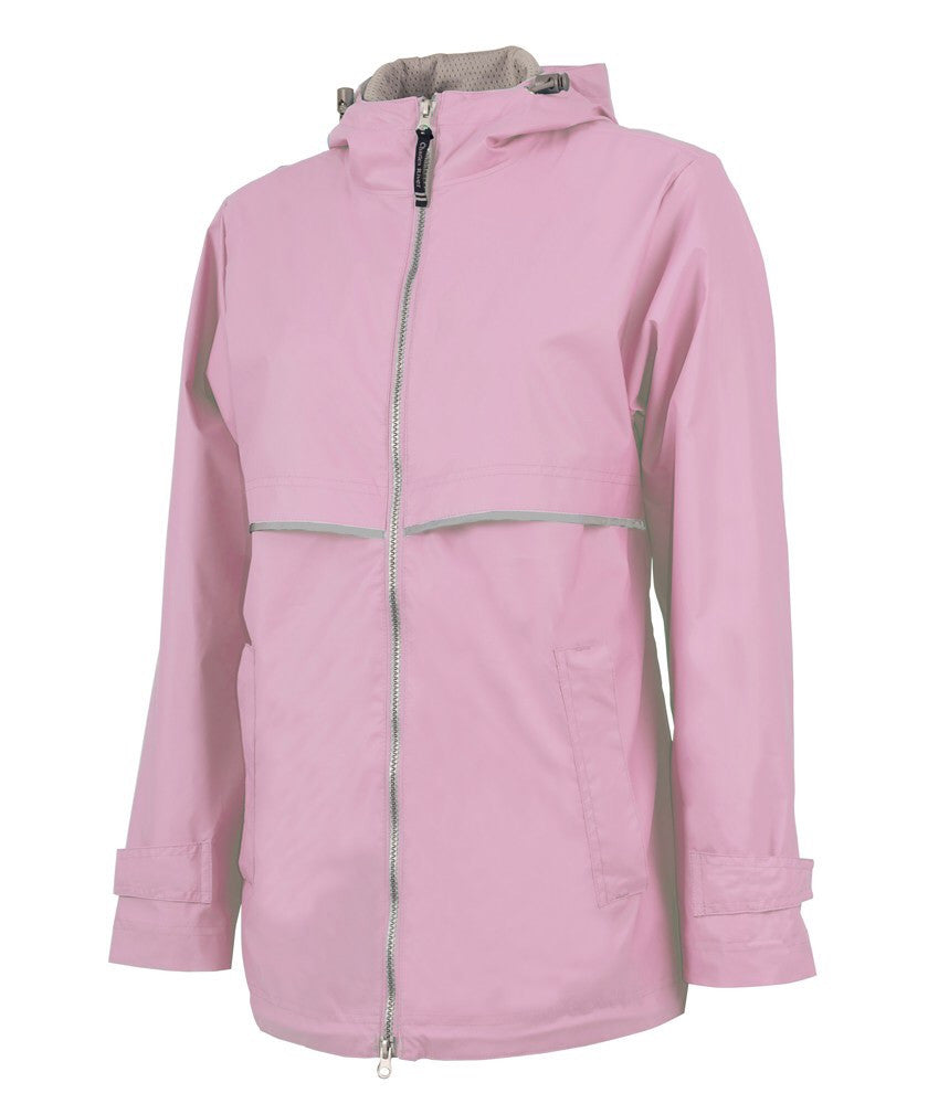 PLMouse Monogram New Englander Rain Jacket with Polka Dot Bow
