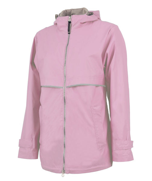 Mouse Bow Monogram New Englander Rain Jacket