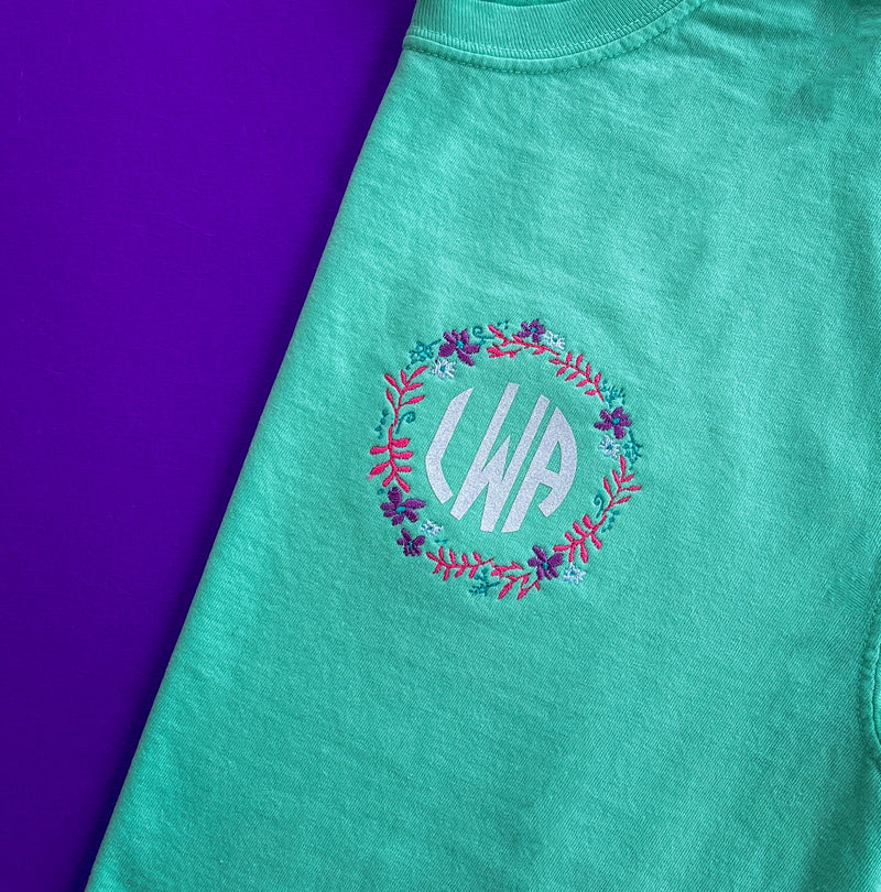 Flower Party Monogram (Multiple Styles)