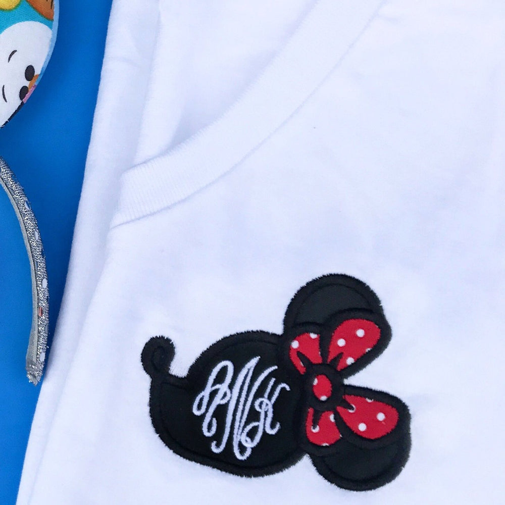 PLMouse Monogram V-Neck T-Shirt
