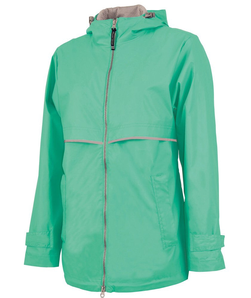 PLMouse Monogram New Englander Rain Jacket with Print Fabric Bow