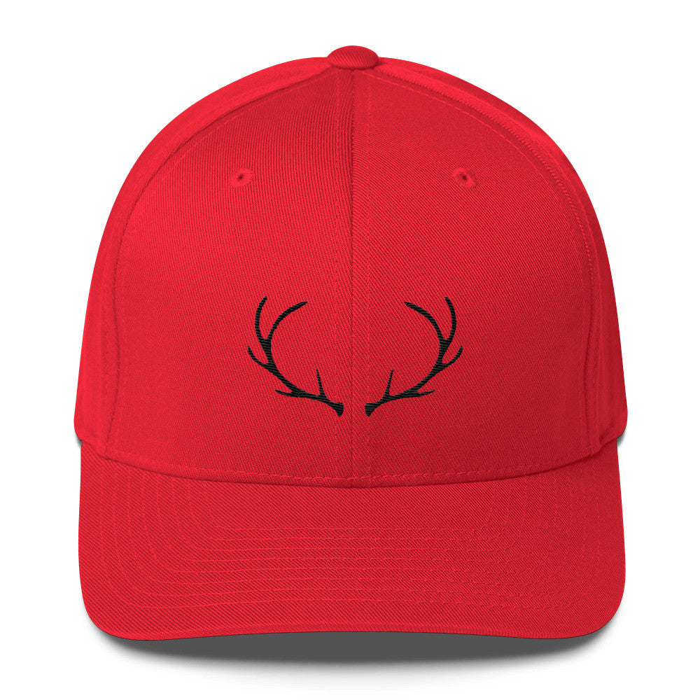 Antlers Fitted Cap (7 business day production time)