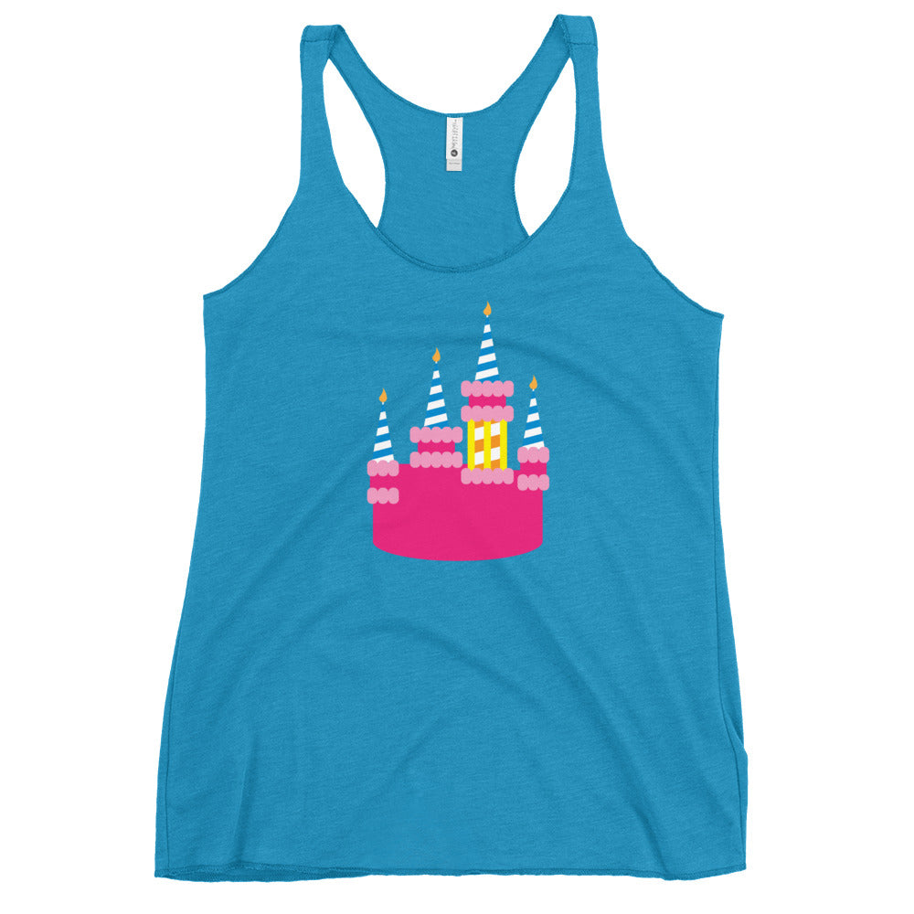 Party Castle - Ladies Triblend Racerback Tank (3-4 week production time)