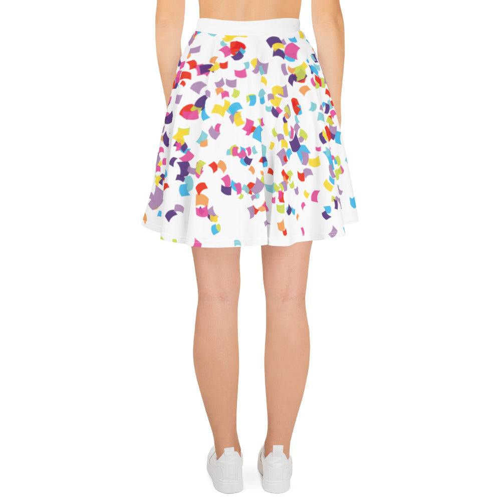 Confetti Party - Skater Skirt (7 business day production time)