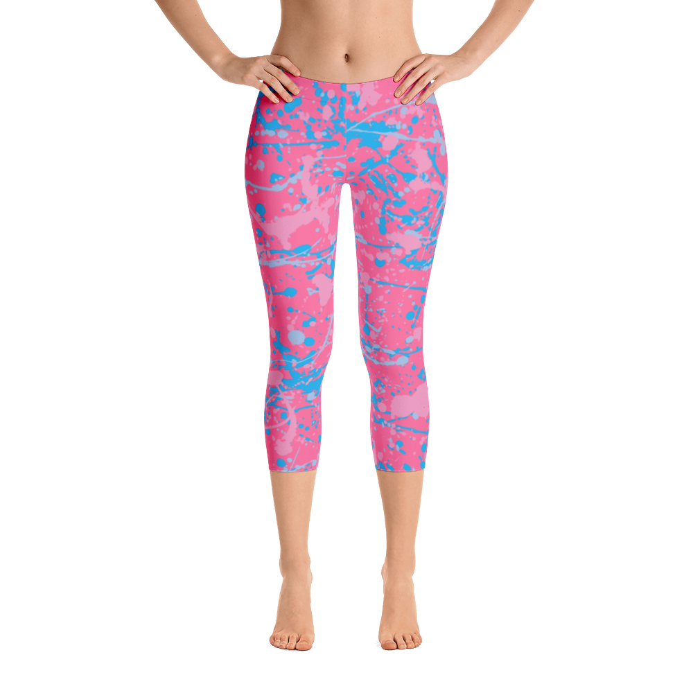 Make it Pink, Make it Blue Leggings - Capri Length (7 business day production time)