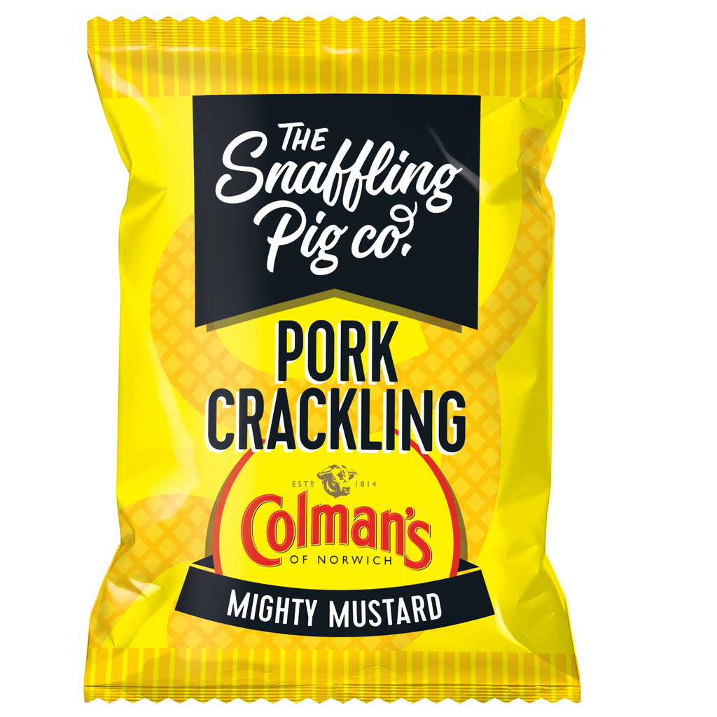 Mighty Colman's Mustard Pork Crackling Packets