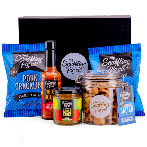 Gluten Free Pork Crackling & Sauces Gift Pack