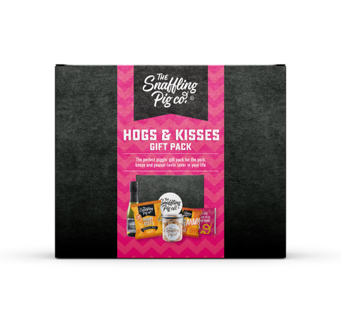 Hogs & Kisses' Pork Crackling, Snacks & Prosecco Gift Set